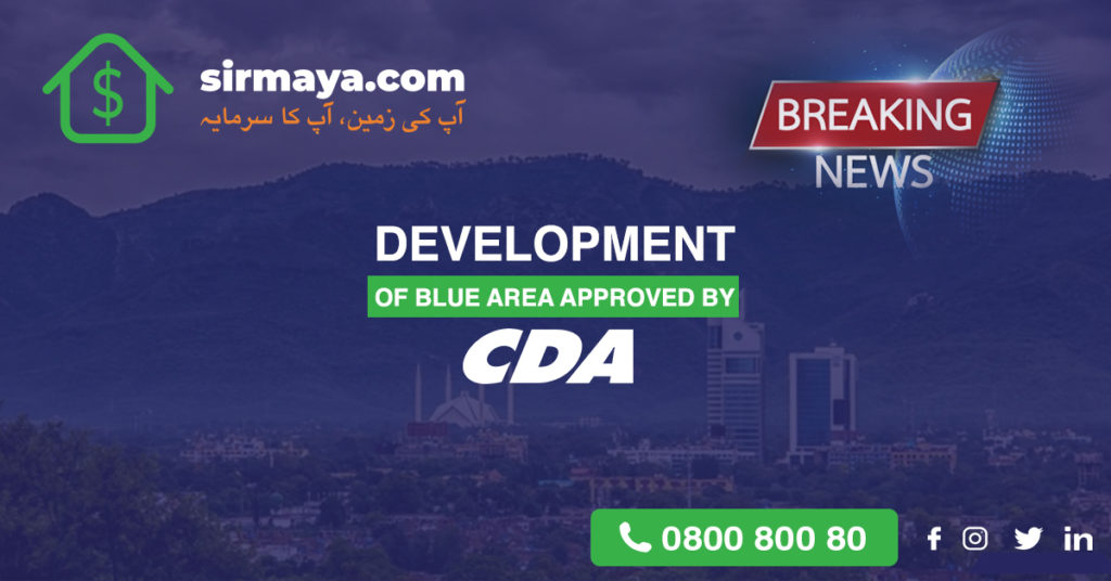 Development of Blue Area Approved by CDA