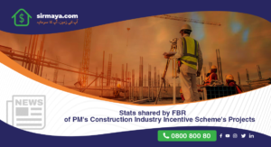 Stats shared by FBR of PM's construction industry incentive scheme's projects