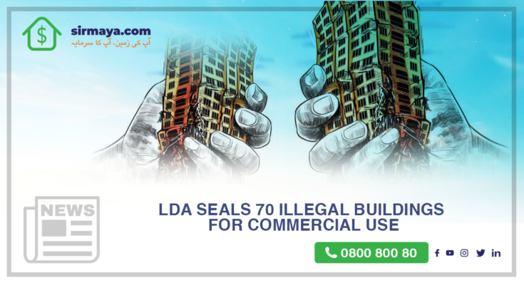 LDA seals 70 illegal buildings for commercial use