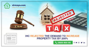 IHC rejected the demand to increase property tax by 200%