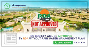 No Society Will Be Approved by RDA Without Rain Water Management Plan