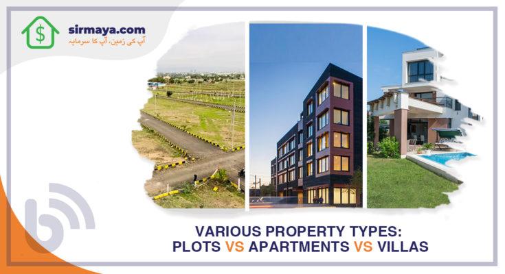 Various Property Types: Plots vs Apartments vs Villas