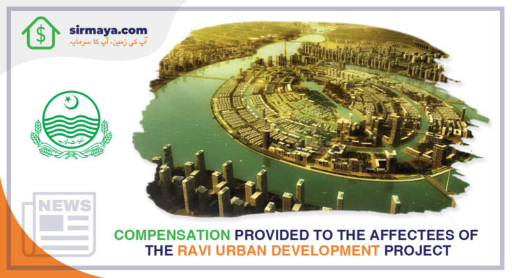Compensation provided to the affectees of the Ravi Urban Development Project