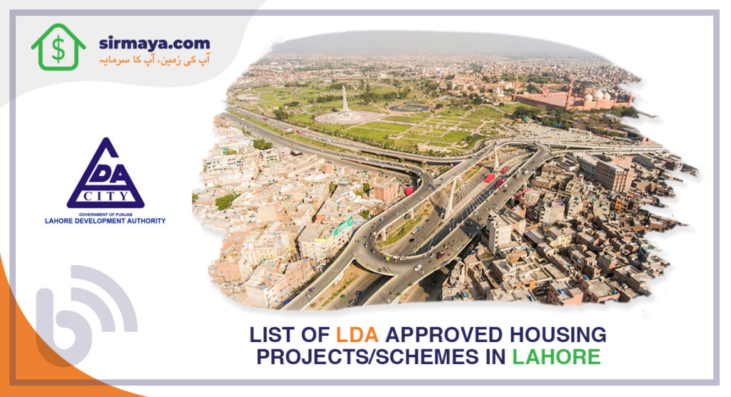 List of LDA approved residential projects in Lahore