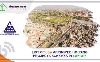 List of LDA approved residential projects in Lahore.