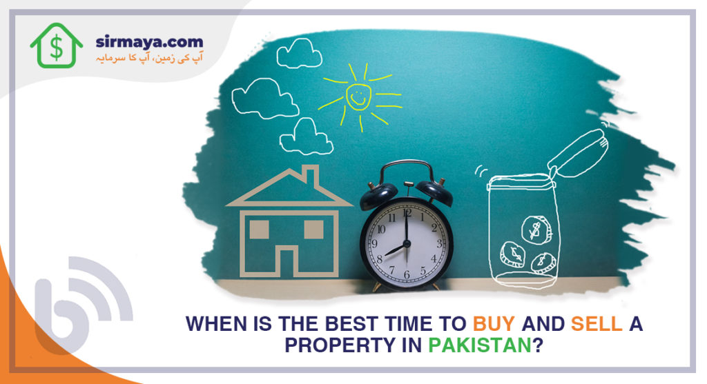 When is the best time to buy and sell a real estate property in Pakistan?