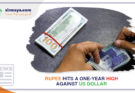 Rupee hits a one-year high against US dollar