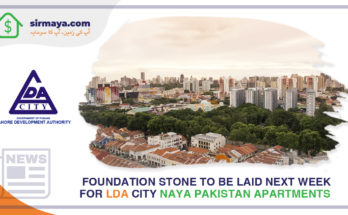 Foundation stone to be laid next week for LDA City Naya Pakistan Apartments