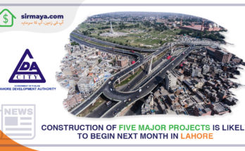 Construction of five significant projects is likely to begin next month in Lahore.