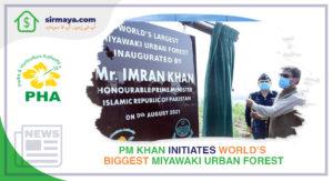 PM Khan Initiates World's Biggest Miyawaki Urban Forest